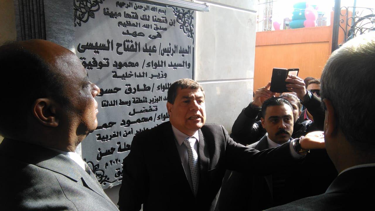 مساعد وزير الداخلية لوسط الدلتا يفتتح نقطه شرطة محلة حسن (4)