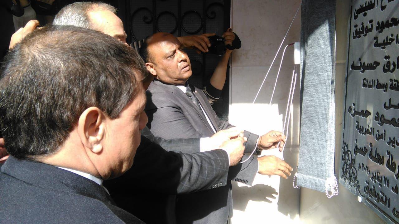 مساعد وزير الداخلية لوسط الدلتا يفتتح نقطه شرطة محلة حسن (3)