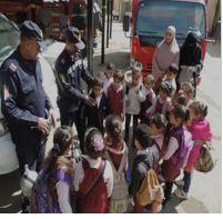 زيادرة طلاب المدارس للمواقع الشرطية