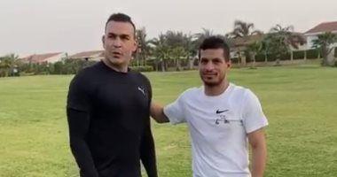 شاهد.. هيثم فاروق يمدح طارق حامد بعد فيديو عصام الحضري