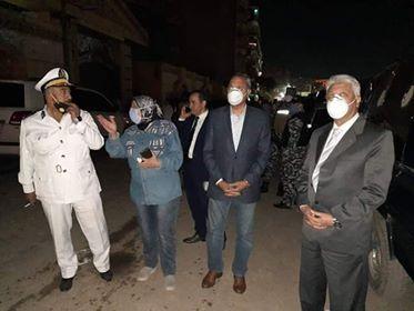 شاهد.. وصول محافظ القليوبية ومدير الأمن لموقع حريق ميت نما بشبرا الخيمة