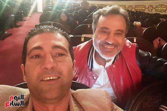 الزميل جمال عبدالناصر مع الفنان ايهاب فهمي