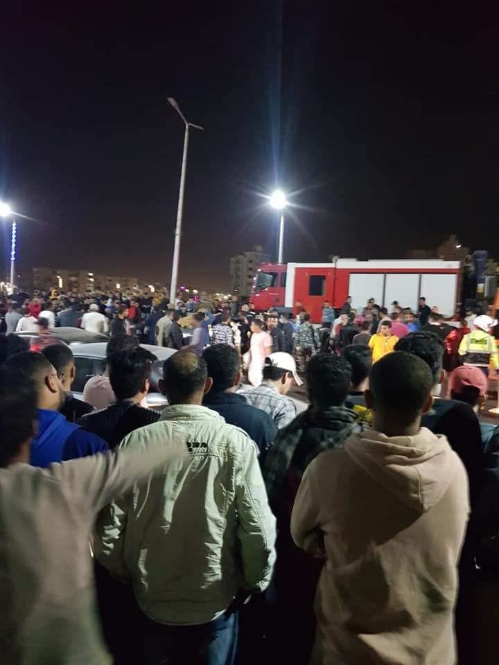 حادث تصادم بطريق السلام بالسويس (7)