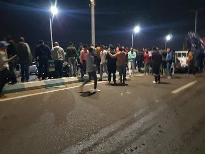 حادث تصادم بطريق السلام بالسويس (2)