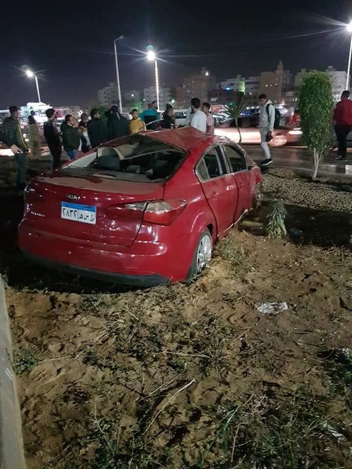 حادث تصادم بطريق السلام بالسويس (4)