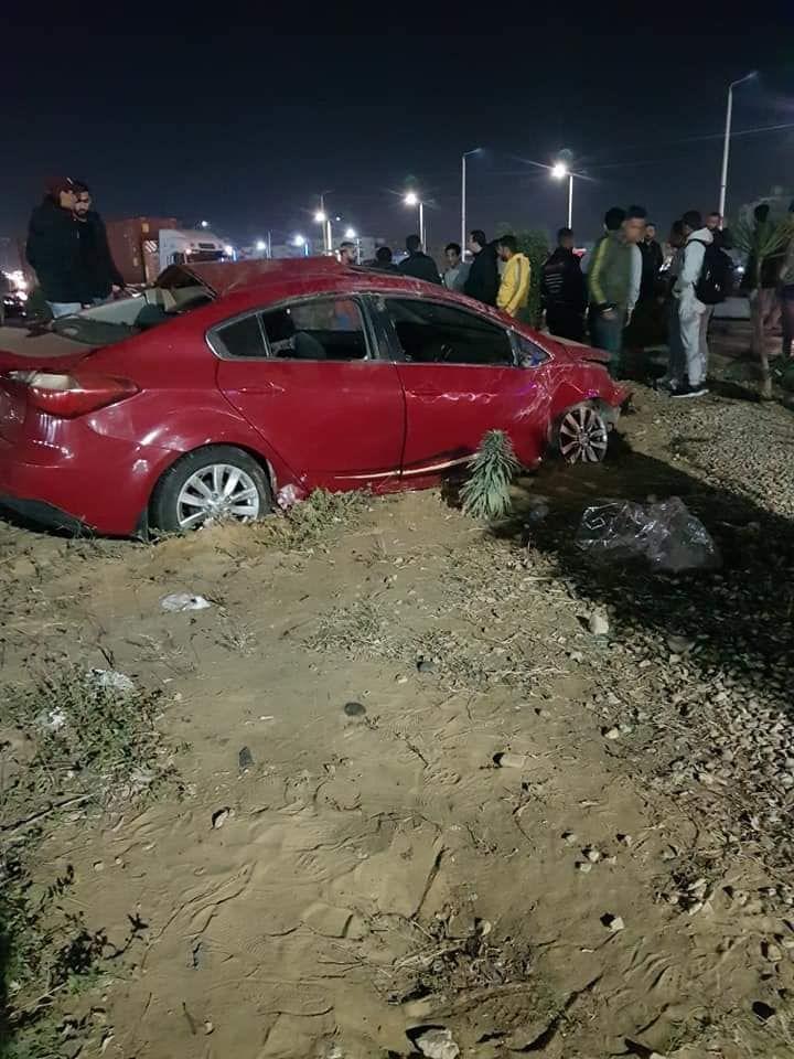 حادث تصادم بطريق السلام بالسويس (1)