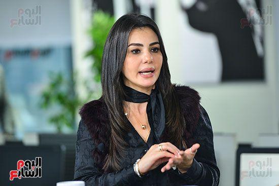 دينا فؤاد فى لقاء لتليفزيون اليوم السابع (3)