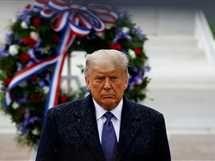 السيدة الأولى للولايات المتحدة الأمريكية ميلانيا ترامب أثناء حضورها الاحتفال بيوم المحاربين القدامى مع الرئيس الأمريكي دونالد ترامب في مقبرة أرلينجتون بولاية فيرجينيا - صورة أرشيفية