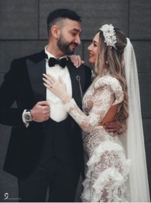 نادر حمدى و زوجته