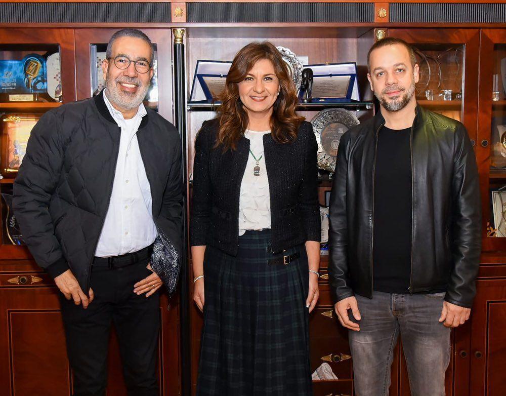 وزيرة الهجرة ولقاءها مع مدحت العدل وميشيل فاضل