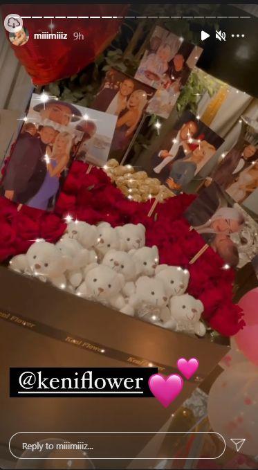 احتفال زوجة محمد زيدان بعيد الحب
