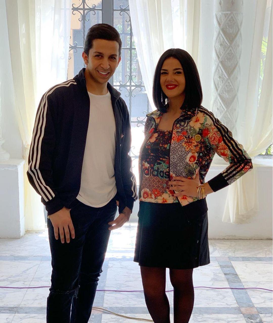 دنيا سمير مع هشام جمال