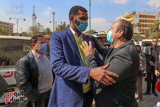 تشييع جثمان اللواء سعد عباس، رئيس صوت القاهرة، ومدير أمن ماسبيرو الأسبق (10)