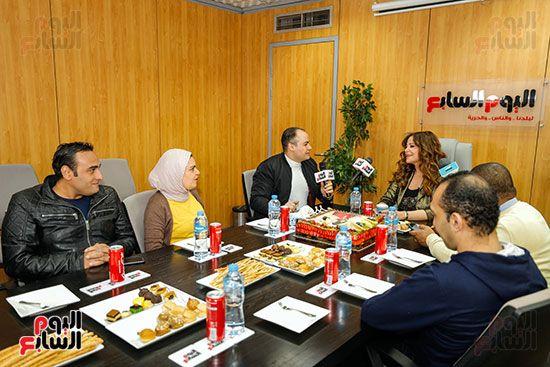 كارول سماحة خلال حوارها لتليفزيون اليوم السابع مع عمرو صحصاح