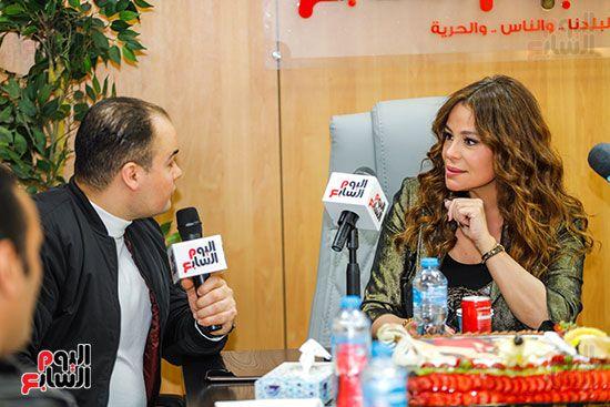 كارول سماحة فى حوارها لتليفزيون اليوم السابع مع عمرو صحصاح رئيس قسم الفن (1)