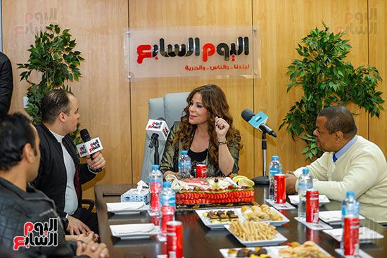 كارول سماحة فى حوارها لتليفزيون اليوم السابع مع عمرو صحصاح رئيس قسم الفن (2)