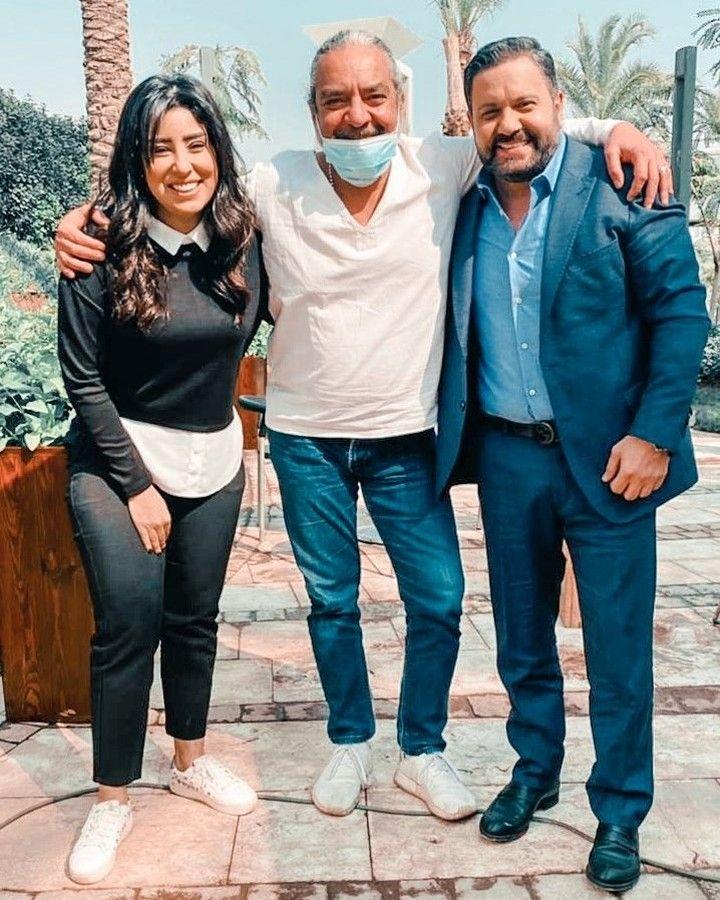 ادوار مع المخرج احمد نادر جلال وايتن عامر