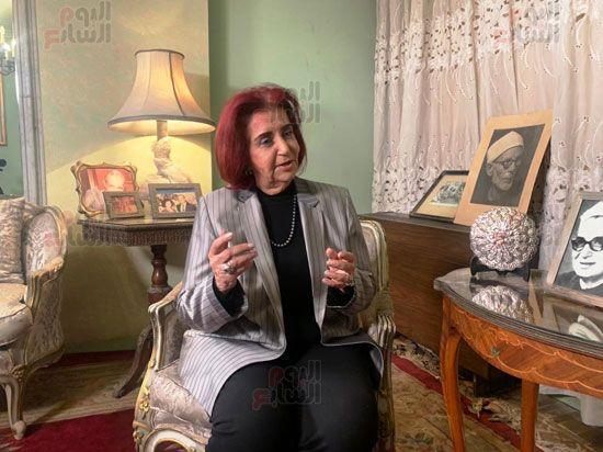 ابنة الباقوري في حوار لتلفزيون اليوم السابع (2)