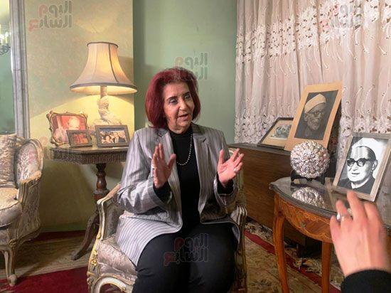ابنة الباقوري في حوار لتلفزيون اليوم السابع (1)