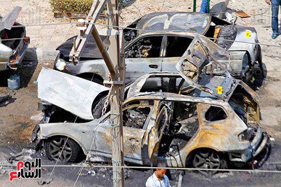 85374-حادث-انفجار-موكب-وزير-الداخلية-ماهر-اسكندر-5-9-2013-(25)