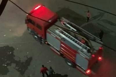 السيطرة على حريق هائل بجوار عمارة شلبى بدمنهور (2)