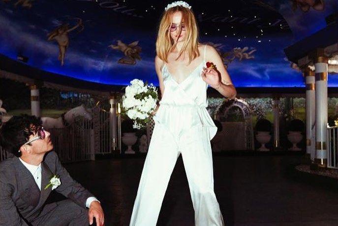 صوفى تيرنر وزوجها فى حفل زفافها