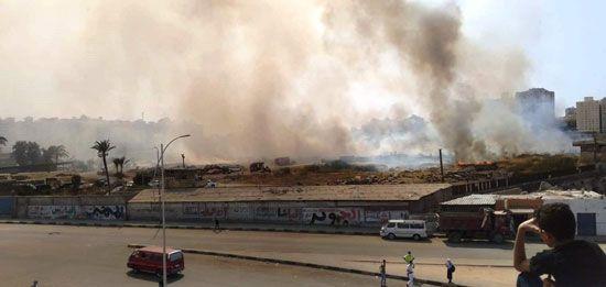 حريق في شركة النحاس المصرية