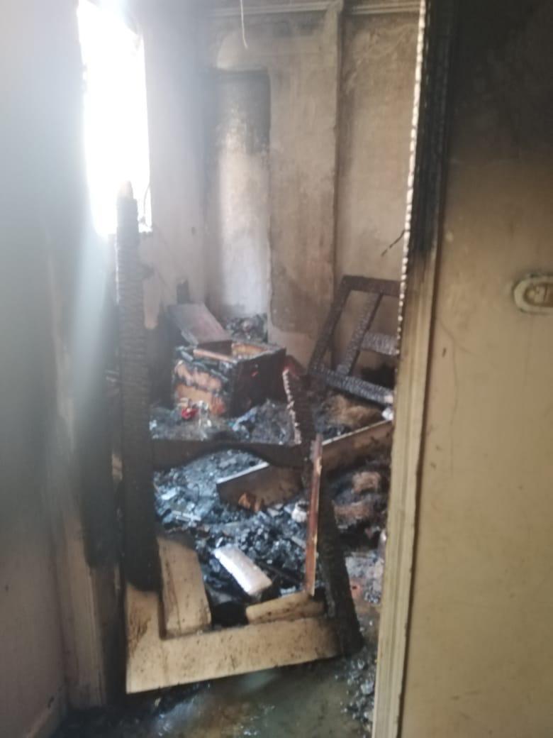 بعد السيطرة على الحريق