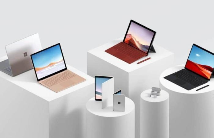 اخبار التقنيه مايكروسوفت تعلن عن حواسيب وسماعة Surface جديدة