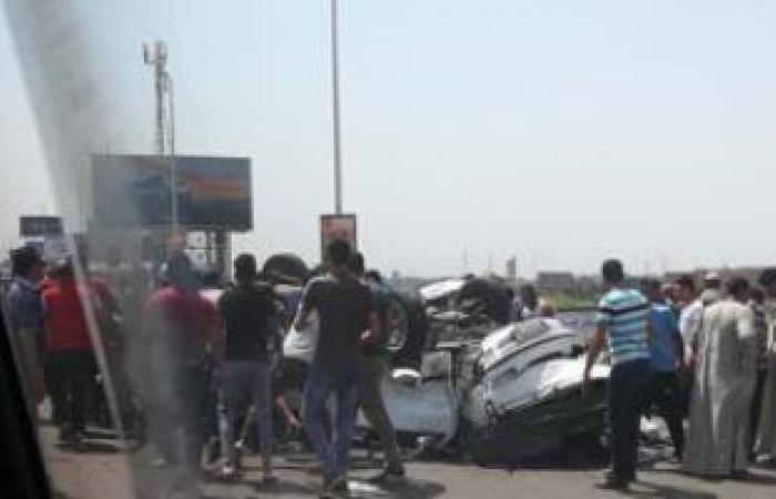 #اليوم السابع - #حوادث - إصابة شخصين فى حادث تصادم سيارتين أعلى طريق إسكندرية الصحراوى
