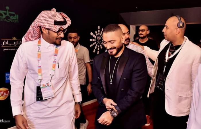 #اليوم السابع - #فن - صور.. تامر حسنى فى حفل كامل العدد بمدينة الرياض فى السعودية