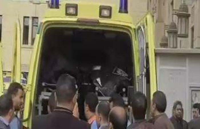 #اليوم السابع - #حوادث - إصابة عاملين فى حادث تصادم سيارتين بمحافظة بنى سويف