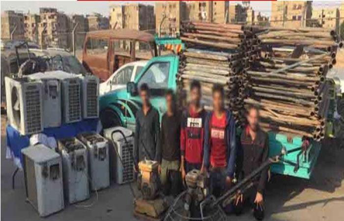 الوفد -الحوادث - ضبط تشكيل عصابي تخصص في سرقة المعدات الخرسانية بالقاهرة موجز نيوز