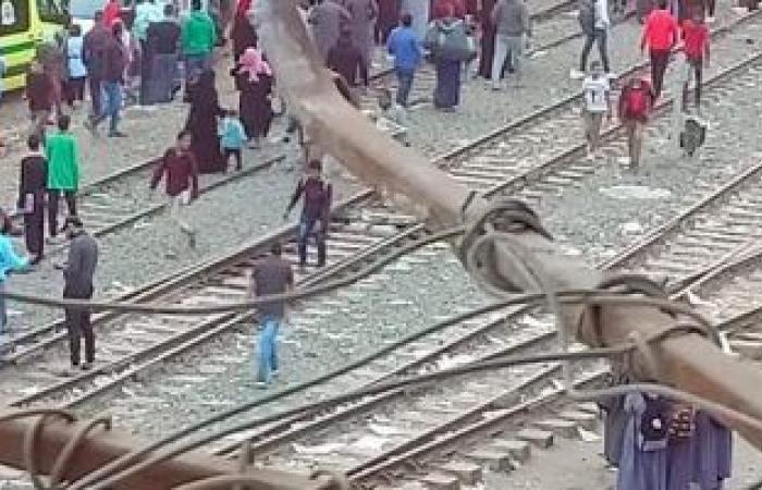 #اليوم السابع - #حوادث - مصرع شخص فى حادث تصادم بقطار شبين القناطر
