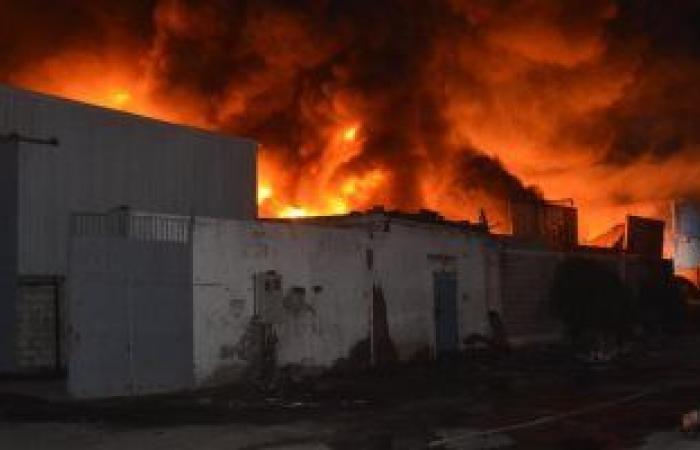#اليوم السابع - #حوادث - حريق ب7 محلات ببيجام بشبرا الخيمة