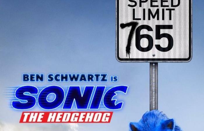 #اليوم السابع - #فن - أزرق X أزرق غامض.. بوستر جديد لـ فيلم الأنيمشن Sonic The Hedgehog