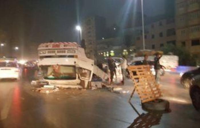 #اليوم السابع - #حوادث - إصابة 13 زائرة صحية فى انقلاب سيارة ميكروباص بأطفيح