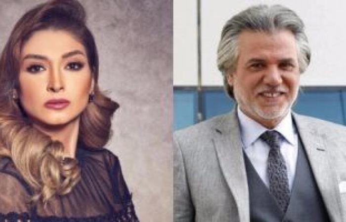 """#اليوم السابع - #فن - ناصر سيف زوج المذيعة الشهيرة روجينا فى """"أسود فاتح"""" مع هيفاء وهبى"""
