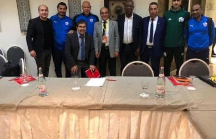 الوفد رياضة - الزمالك بزيه الأساسي في مواجهة الترجي التونسي موجز نيوز