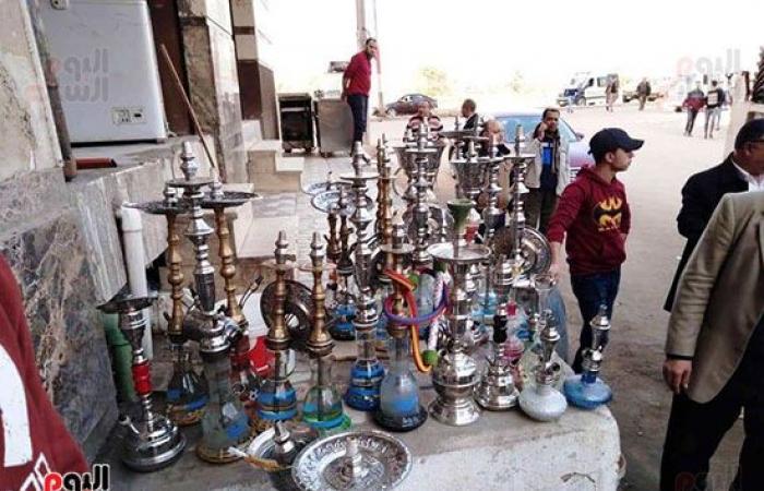 #اليوم السابع - #حوادث - ضبط 350 شيشة بمقاهى كفر الشيخ منعًا لانتشار كورونا.. فيديو وصور