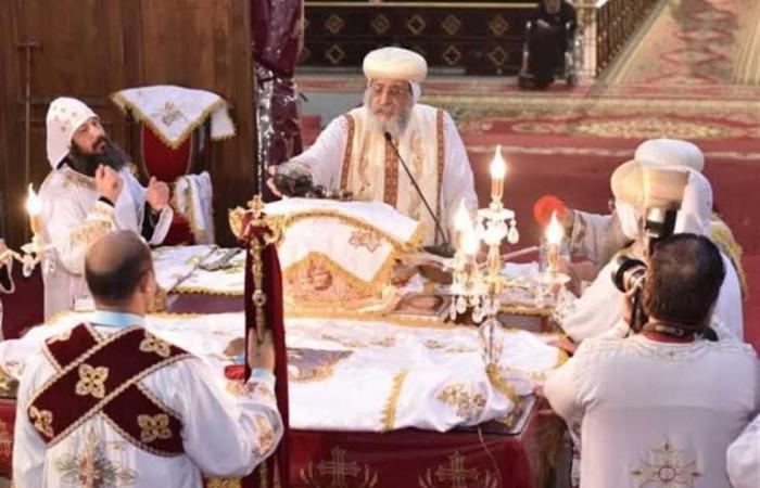 المصري اليوم - اخبار مصر- البابا تواضروس يترأس قداس جمعة ختام الصوم من دير الأنبا بيشوي موجز نيوز