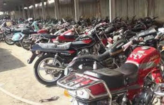 الوفد -الحوادث - ضبط 159 دراجة نارية مخالفة خلال 24 ساعة موجز نيوز