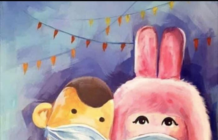 """#اليوم السابع - #فن - شيرين رضا تهنئ المصريين بحلول شهر رمضان بصورة بوجى وطمطم عليها """"كمامات"""""""