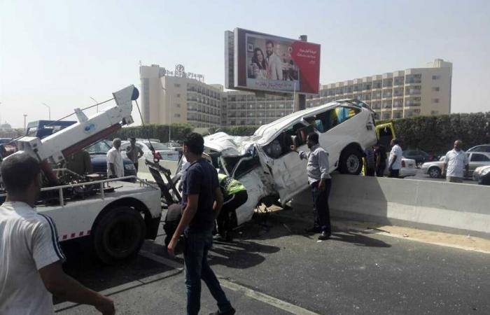 #المصري اليوم -#حوادث - إصابة 12 شخصًا إثر انقلاب «ميكروباص» بالدقهلية موجز نيوز