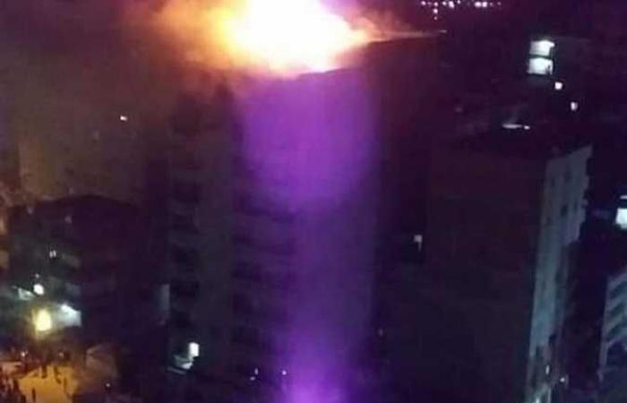 #المصري اليوم -#حوادث - حريق هائل في معرض لتصنيع النجف بشبرا الخيمة.. إصابة 3 واحتراق مبنى 10 أدوار (صور) موجز نيوز