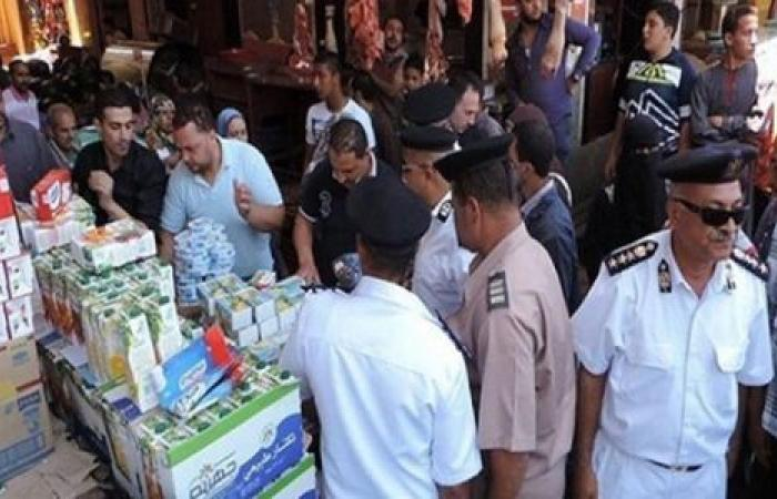 الوفد -الحوادث - تحرير 35 محضراً فى حملة تموينية بالقليوبية موجز نيوز