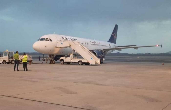 المصري اليوم - اخبار مصر- مطار مرسي علم يستقبل 65 مصريًا عائدين من الأردن موجز نيوز