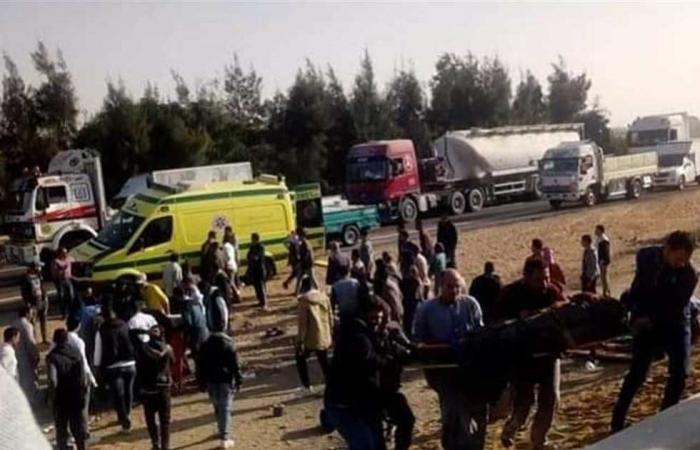 #المصري اليوم -#حوادث - مصرع 4 وإصابة 40 فى حوادث طرق بالمحافظات موجز نيوز