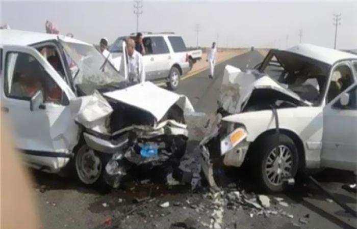 الوفد -الحوادث - مصرع 3 أشخاص وإصابة 7 في حادث تصادم بطريق الإسماعيلية الصحراوي موجز نيوز
