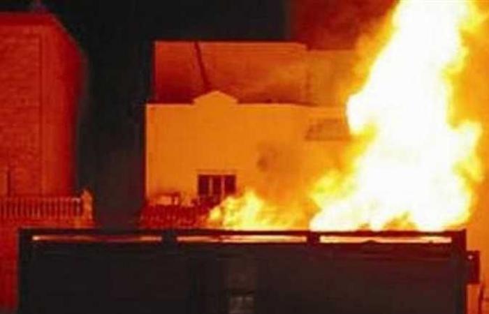 الوفد -الحوادث - نشوب حريق هائل في كشك كهرباء بأوسيم موجز نيوز